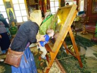 В Покровский храм прибыла икона Божье Матери «Всех скорбящих Радосте» 1891 г.