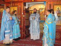 21 июля 2017 года,в праздник Казанской иконы Божией Матери, епископ Костомукшский и Кемский Игнатий совершил Литургию в Покровском кафедральном храме г. Костомукши