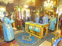 5 сентября 2017 г., на Отдание праздника Успения Пресвятой Богородицы, в Покровском храме после Божественной Литургии прошел Чин погребения Божий Матери