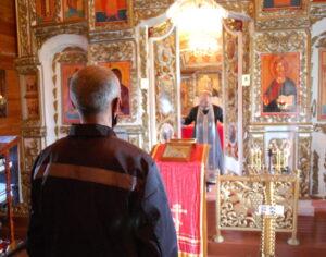 4 сентября 2021 года руководитель отдела по тюремному служению Костомукшской епархии иерей Игорь Егоров посетил ЛИУ-4 ФСИН