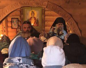 14 октября 2021 года, в праздник Покрова Пресвятой Богородицы,  в Благовещенском Кемском мужском монастыре была совершена Божественная литургия и совершён крестный ход
